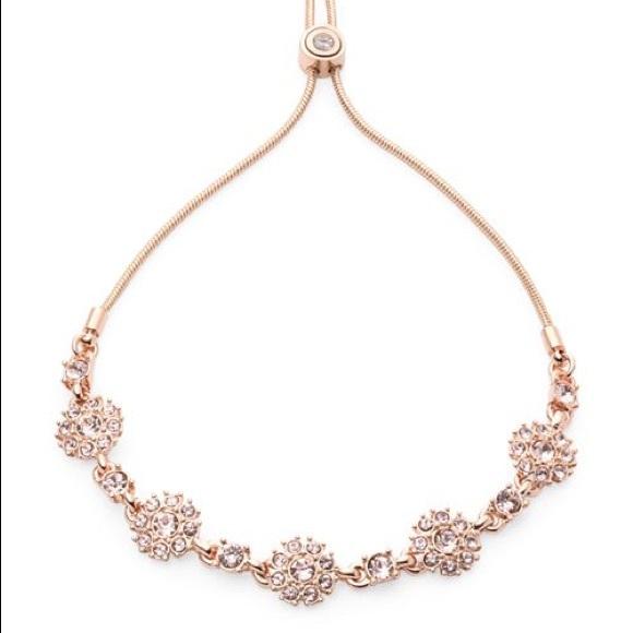 Givenchy Jewelry - Givenchy Pavé Flower Station Slider Bracelet
